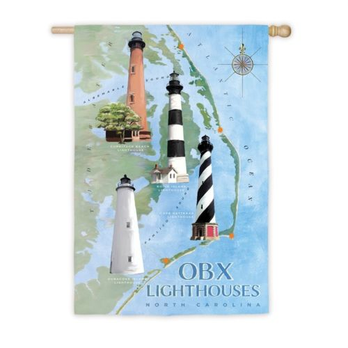 OBX Lighthouse House Flag