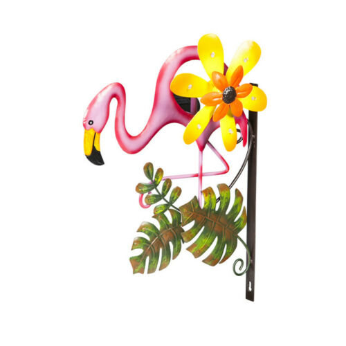 Wall Mounted Flamingo Wind Spinner Solar