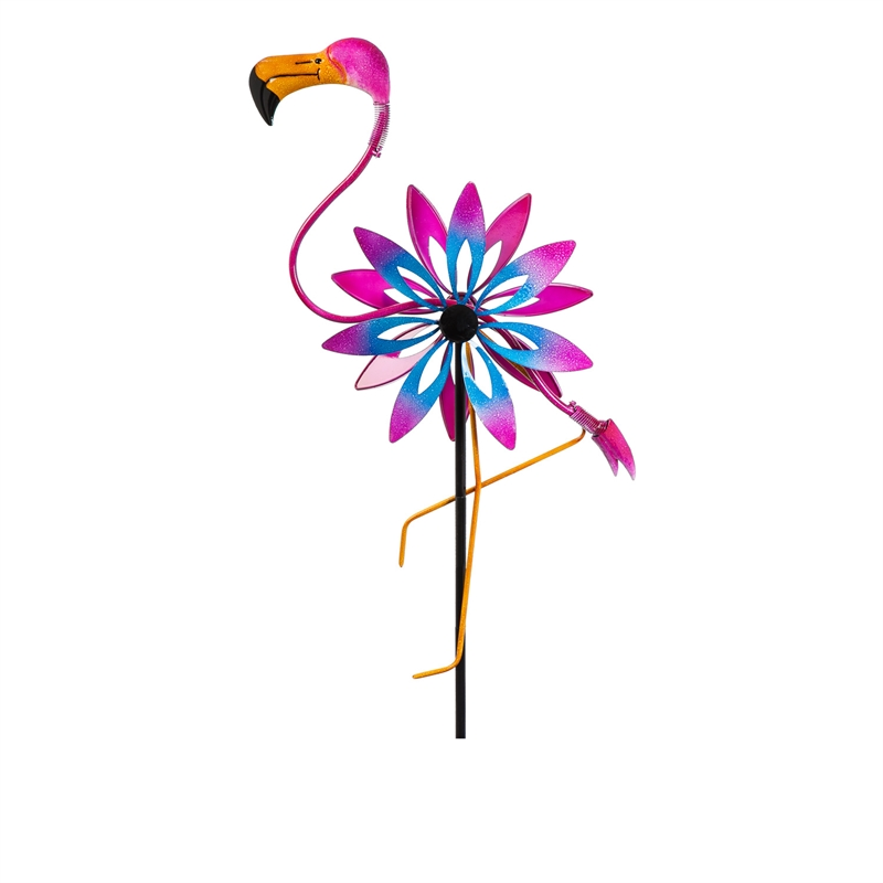 Flamingo Kinetic Wind Spinner 64""