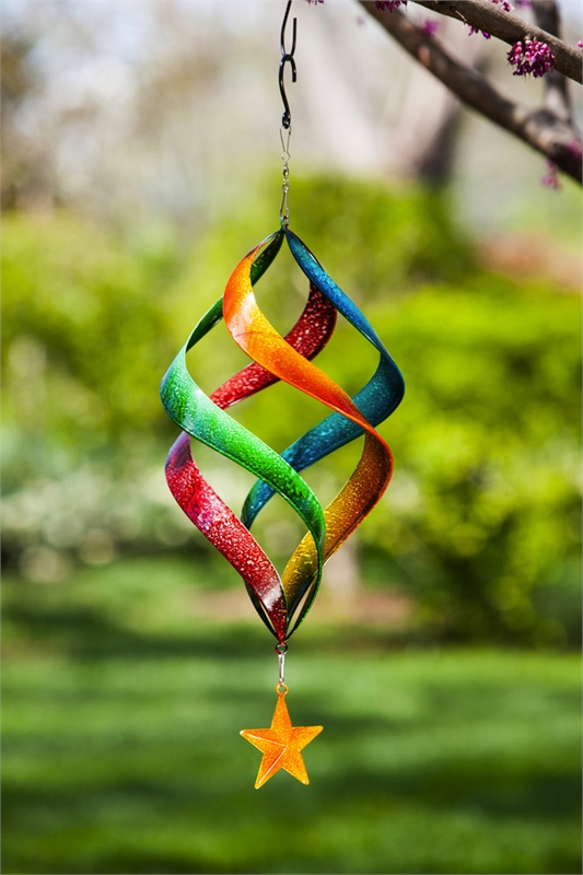 Hanging Wind Spiral Kinetic Spinner Star