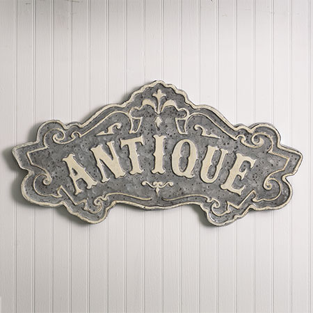 ANTIQUE Distressed Metal Sign