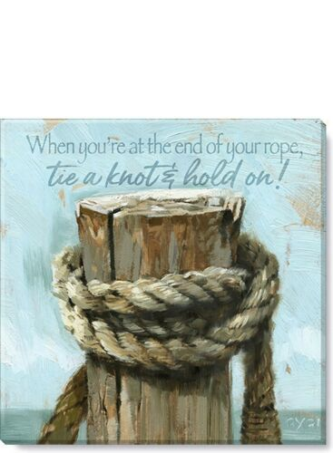 Nautical Rope Canvas Wall Art Made in USA 20""