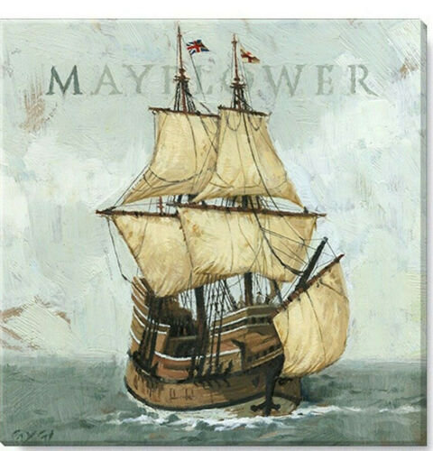 Mayflower Ship Canvas Wall Art Made in USA 20""