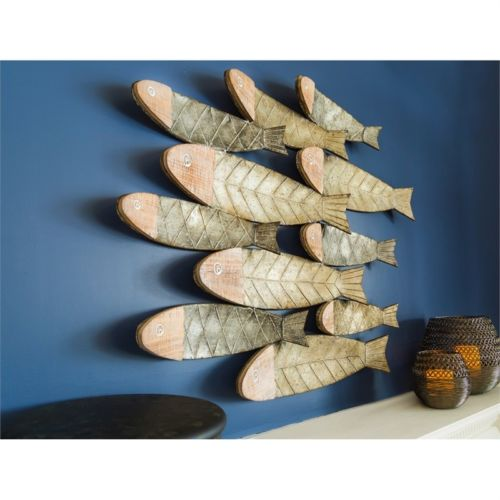 School of Fish Wall Art Sculpture