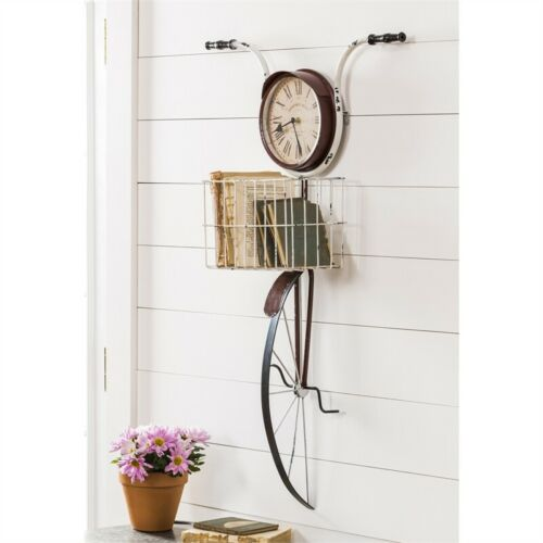 Bicycle Wall Clock with Basket