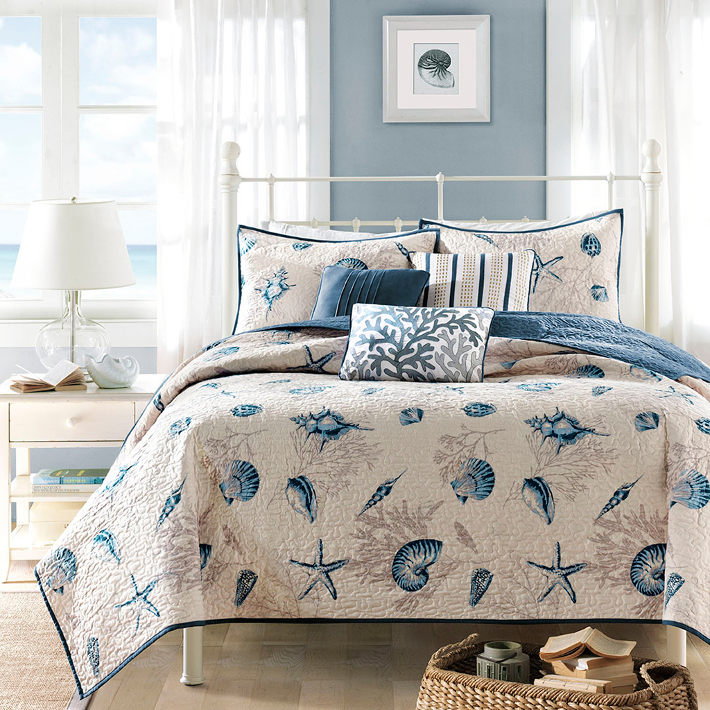 Beach Shell Bedding Set w/ Pillows