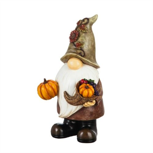 Garden Gnome Statue Fall Autumn Outdoor Decor