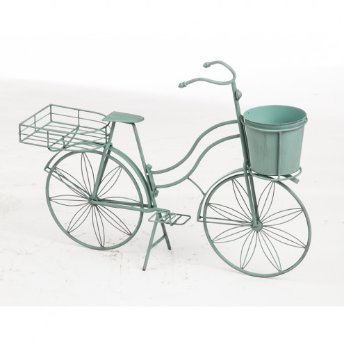 Shabby Green Bicycle Plant Stand