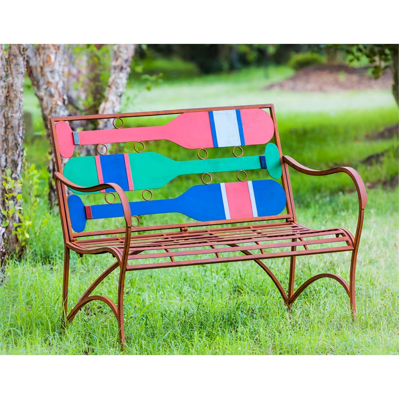 Nautical Boat Oars Garden Bench