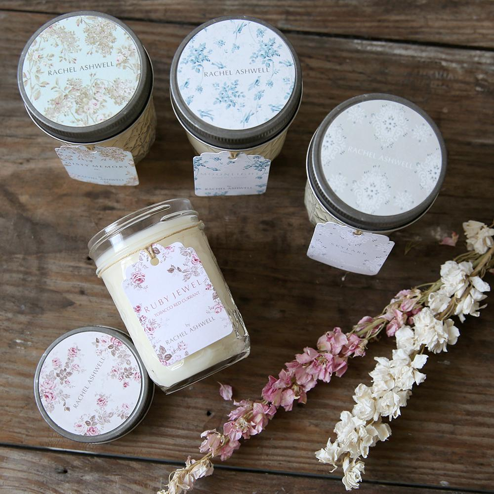Shabby Chic Jar Candles