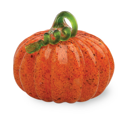 Orange Glass Pumpkin Medium