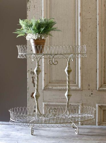 2 Tier French Wire Display Stand