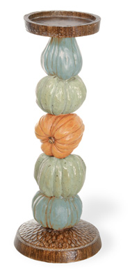 Pumpkin Candle Holder 12""
