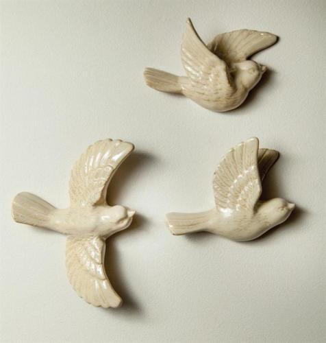Bird Wall Sculptures Set of 3