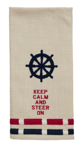 Ship Wheel Dish Towels 3 Set