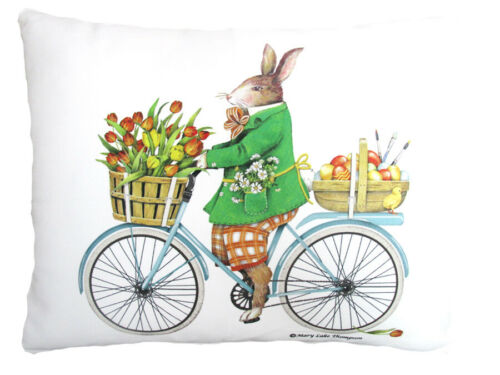 "Easter Rabbit Riding Bike Pillow 18"", 24"""