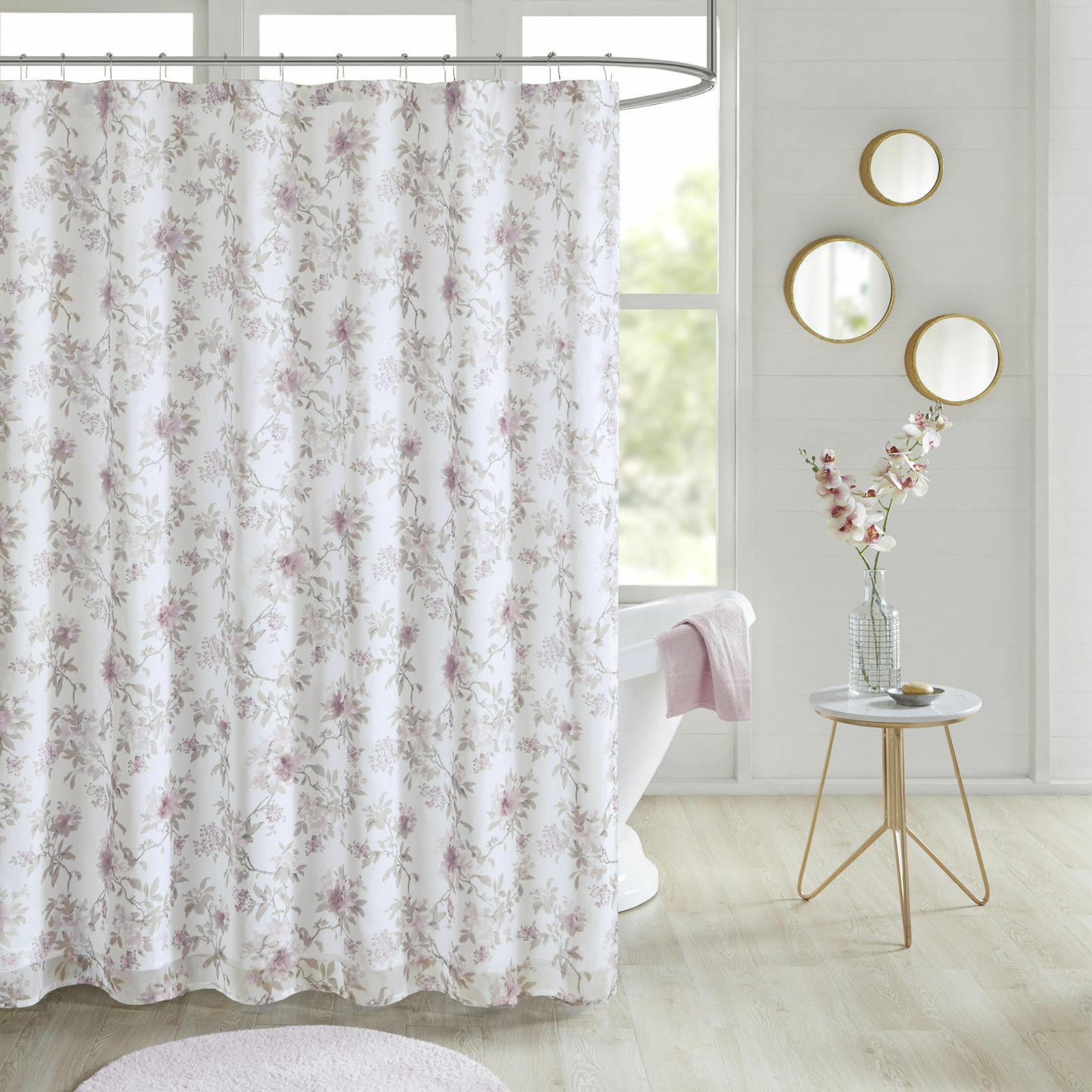 Floral Embellished Shower Curtain