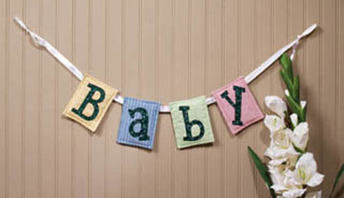 Baby Ribbon Garland