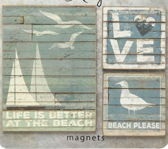 Beach Please Magnet Set of 3