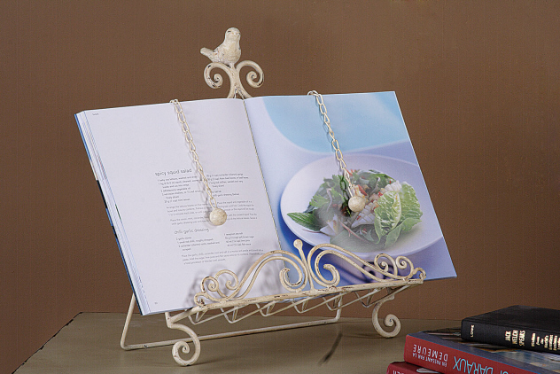 Metal Book Stand with Bird