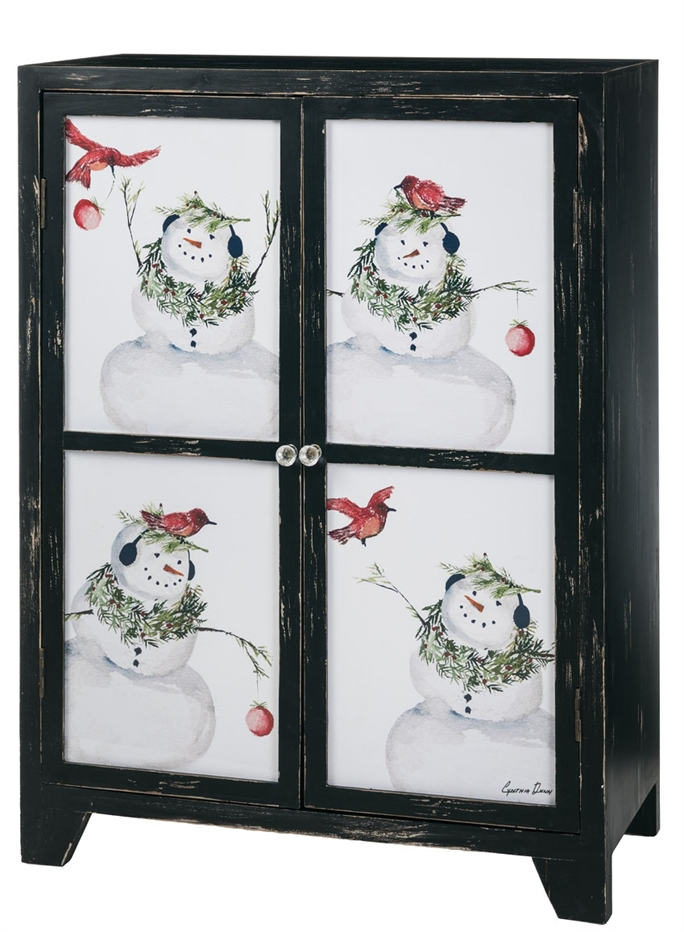 Christmas Winter Snowman Cabinet