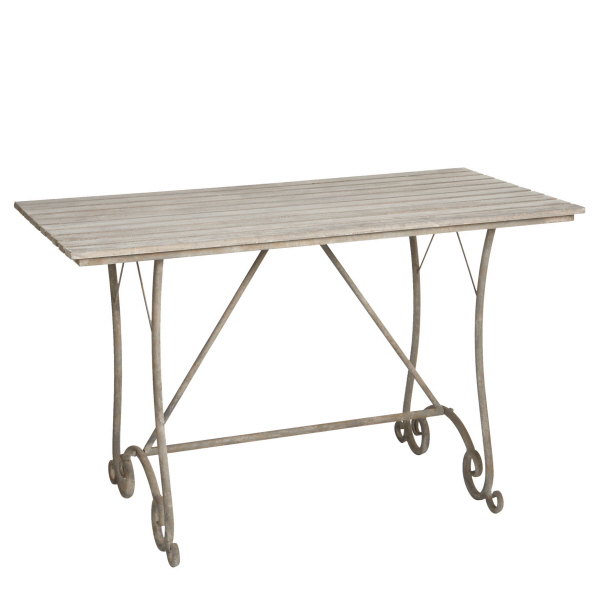Distressed Greywash Rectangular Table