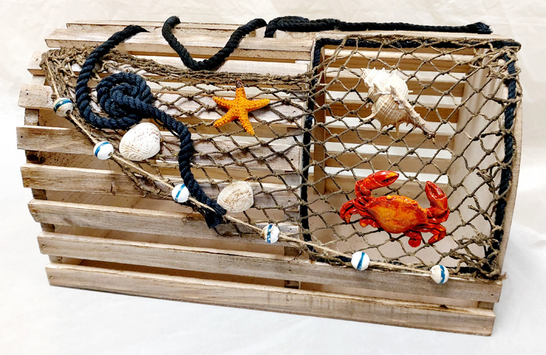 Decorative Lobster Trap Box