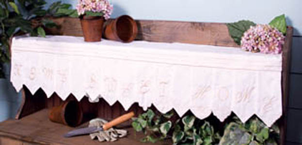 Home Sweet Home Mantle or Shelf Scarf