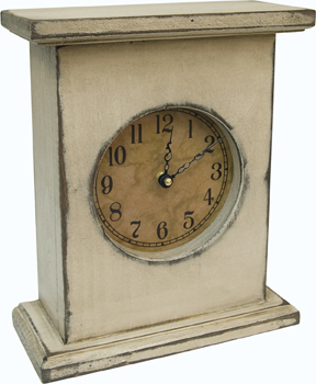 Clock - Antique White