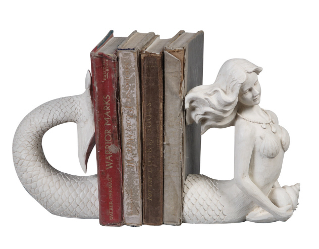 Resin Mermaid Bookends