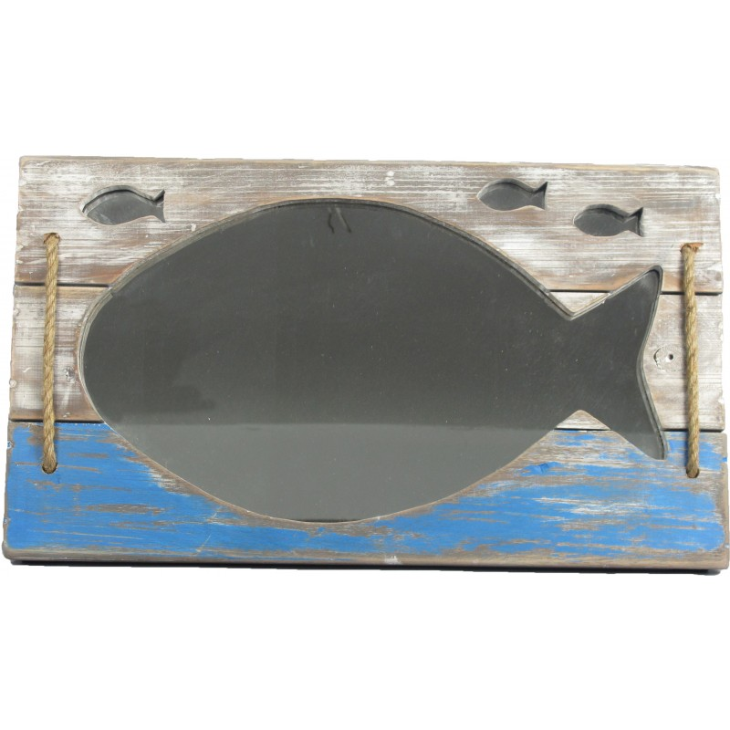Fish Wall Mirror with Rope