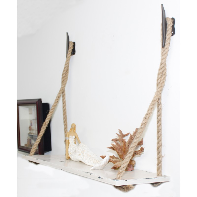 Boat Cleat Rope Hanging Wall Shelf Nautical