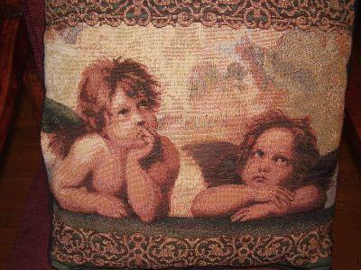 Pillow - Cherubs by Raphael