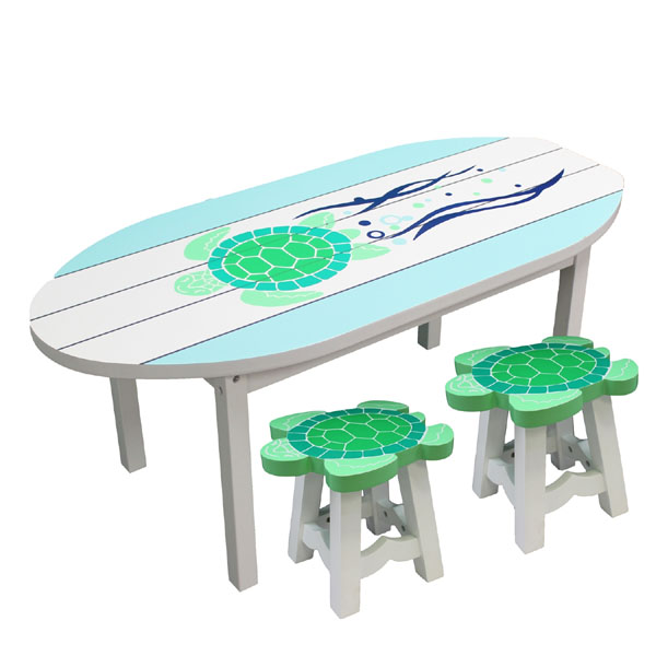 Sea Turtle Table & Chairs