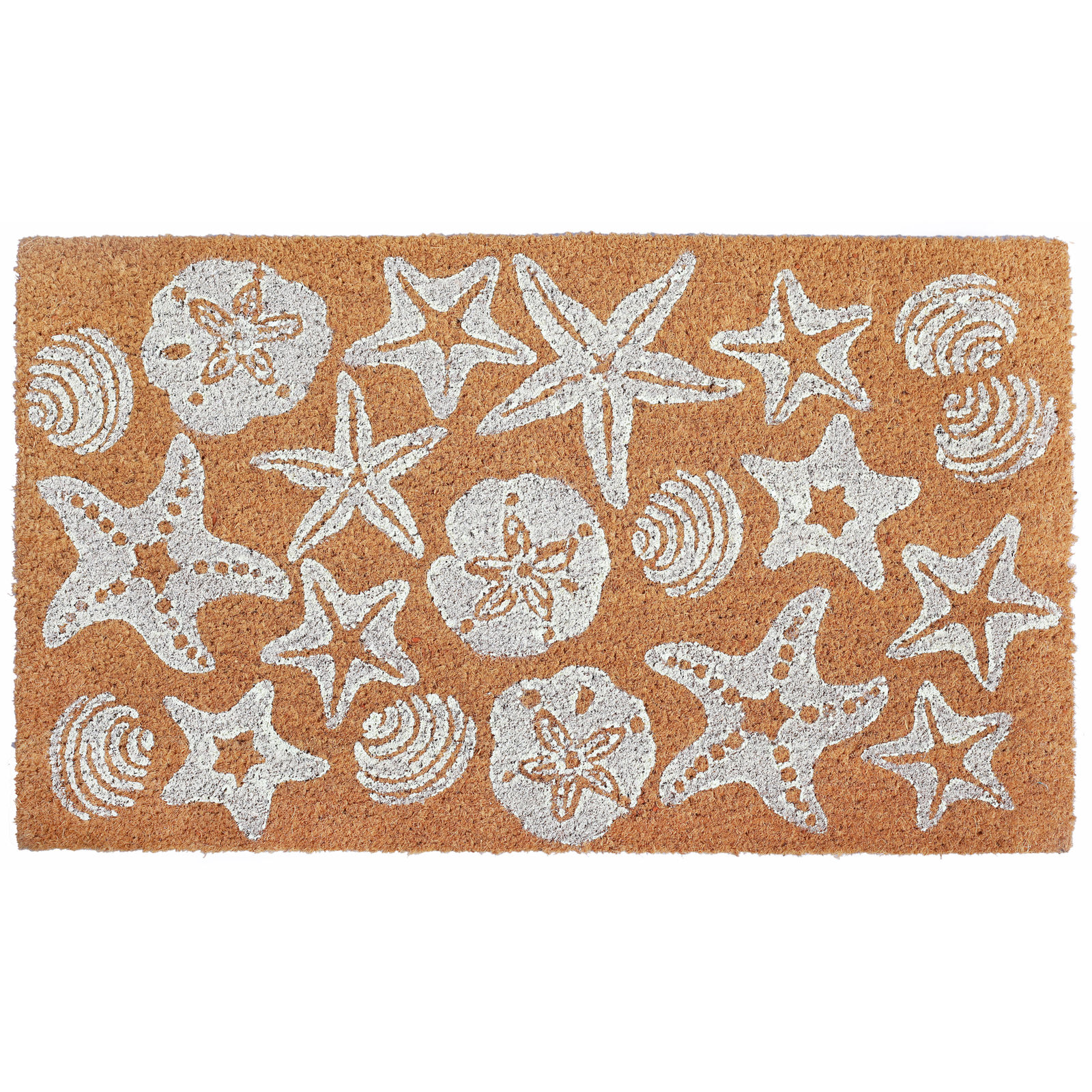 Shell Starfish Sand Dollar Coir Door Mat