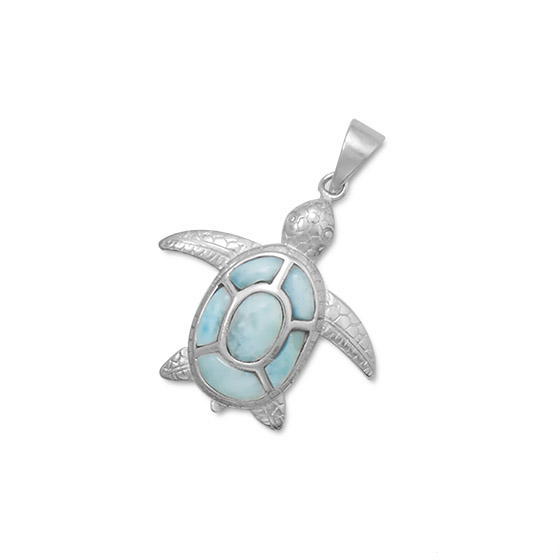 Coastal Silver Sea Turtle Pendant