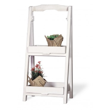 White Plant Stand Ladder - Small