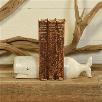 White Cast Iron Whale Bookends